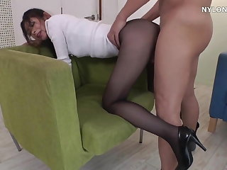 neighbour heels in pantyhose high heels