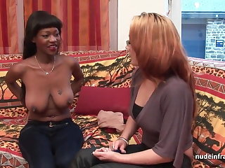 Casting busty french balck hard anal fucked and jizzed
