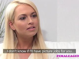 FemaleAgent Seriously sexy shy blonde creates hot casting