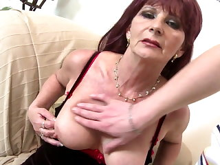 Old grandma slut suck and fuck big young cock