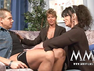 MMV Films Mature teacher having fun with a couple