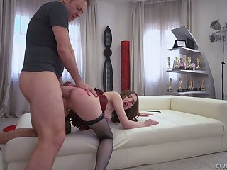 Toy addicted whore Lina Mercury takes Rocco's strong cock into her asshole