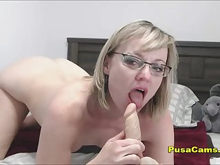 MILF In Glasses Hot Solo