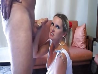 gagging and male milk eating - blondie