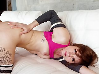 Sporty young slut is bent over for doggystyle dick
