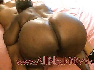 Big Booty Black Granny gets Creampie!!!