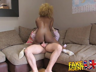 FakeAgentUK Perfect ass and tits ebony chick wants sex