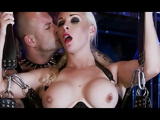 Raunchy bdsm 3some sex with naughty blond hair girl babes