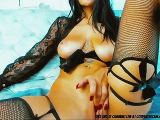 Hip Hop Chick Masturbating For Fun.... - home made webcam