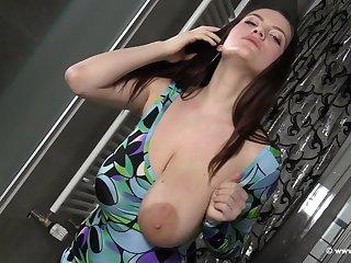 Sexy Mary Selino milking big tits in the kinkiest way