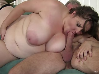 Horny BBW gets a workout by riding cock during hot love affair