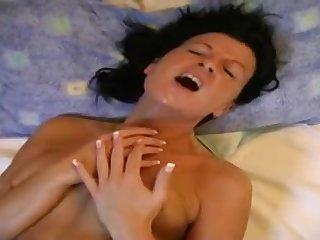 Amateur MILF lesbians amazing toying video