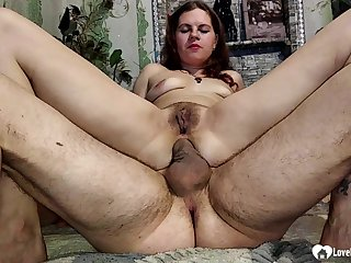 He will pound her tight anal canal as hard as he can until he cums