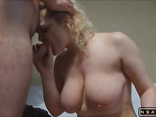 Heavy-Breasted Blond Housewife Gets Her Tight Rear Drilled