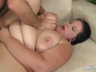 Curvy Fattie Becki Butterfly Rides Throbbing Cock