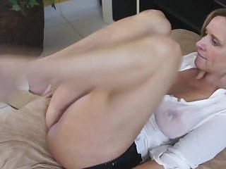 Spanish MILF in wet t-shirt fucks very hot