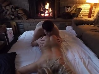 Hot blonde gets her wet pussy fucked and loves to record themselves