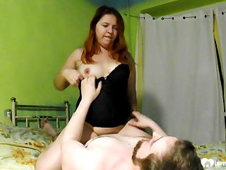 Redhead stepsister rides a rock-solid meat pole