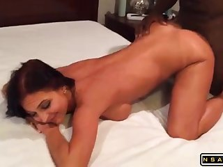 Amateur Porn Cougar Indulges In Interracial Cuckold