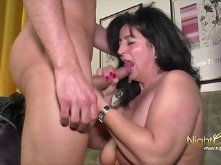 Brawny MILF's Remarkable Fuck Session - Big dick for old mature with fat ass