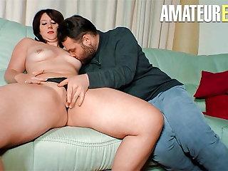 AMATEUR EURO Sexy MILF Melanie E. Rough Drilled By Horny BF