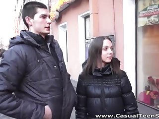 Russian casual sex video featuring amateur student Foxy Di