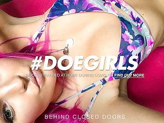 DOEGIRLS - Sexy Teen Plays With Pussy On Cam - Lovita Fate