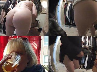 Tempting Grandma's Bum On Hidden Cam