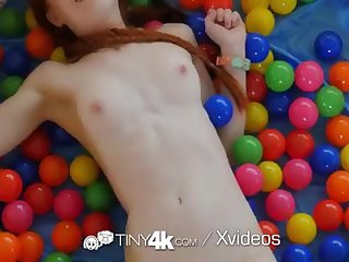 Tiny4k Puny jugged ginger Dolly Tiny boinked after ball pit joy